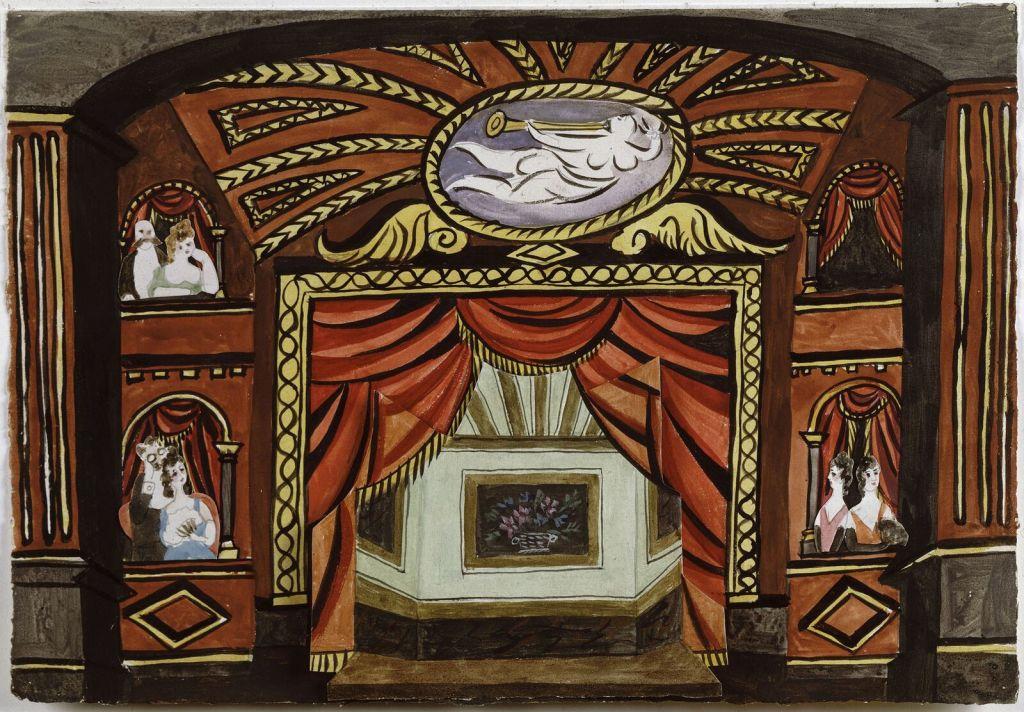 Pablo Picasso, Projet de décor pour le ballet Cuadro Flamenco, suite de danses andalouses, 1921