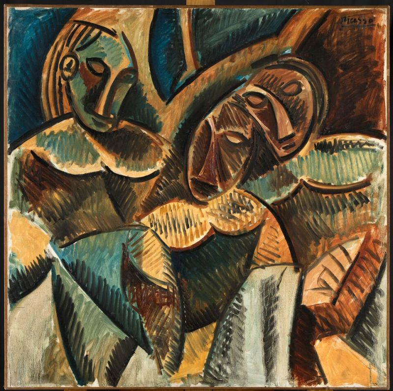 Pablo Picasso, Trois Figures sous un arbre, hiver 1907-1908