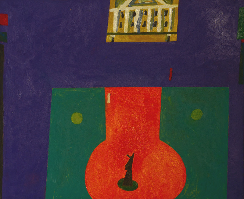 Place Pouchkine, Timur Novikov, 1986 - Collection Paquita Escofet Miro, Libres figurations, FHEL Landerneau