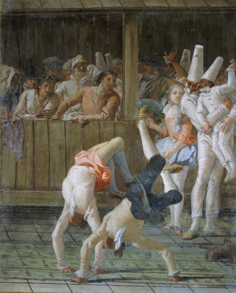 Giandomenico TIEPOLO, Polichinelle et les saltimbanques, 1791-1793