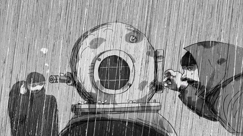 Priit Paêrm , Divers in the Rain - Loov Kultuur à La Cité de la Mode et du Design