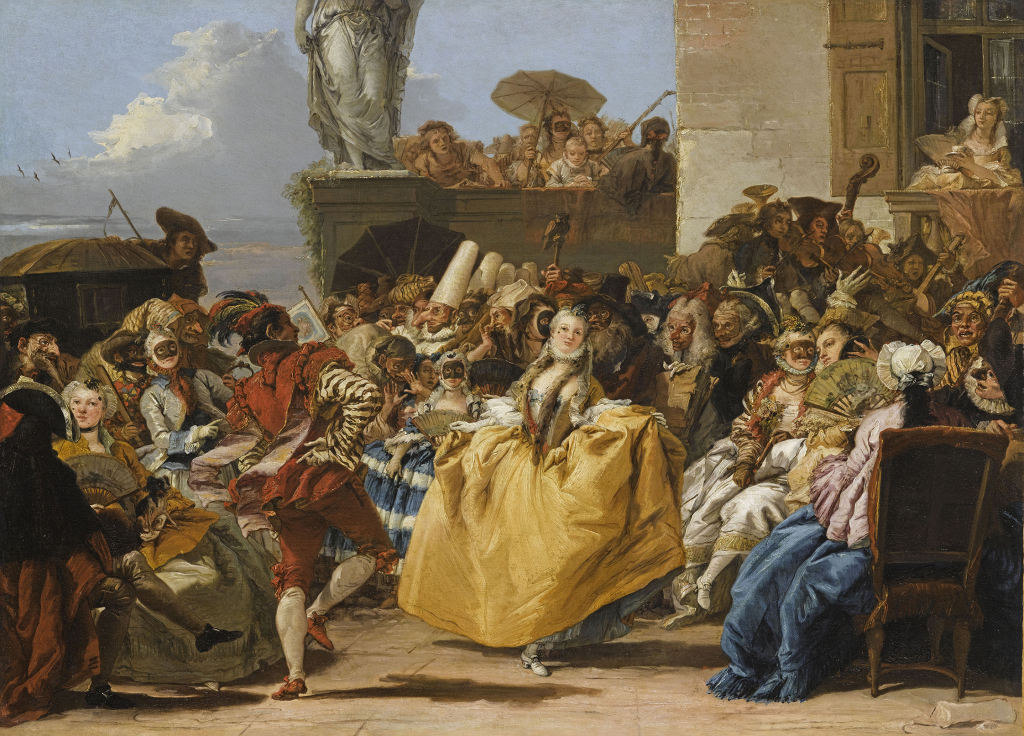 Giandomenico TIEPOLO, Scène de carnaval ou Le Menuet, 1754-1755