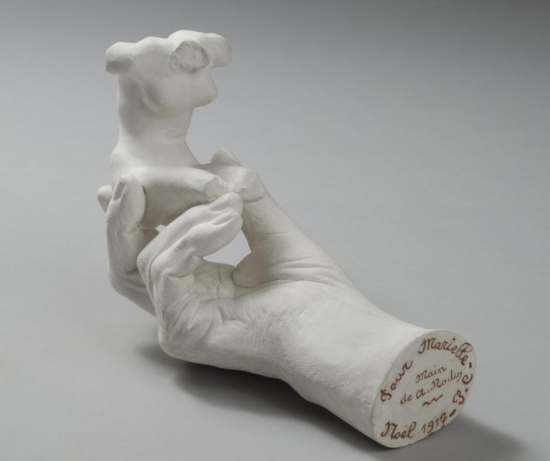 Sculpture main Rodin et torse féminin, Rodin et son mouleur, Musée Français de la Carte à Jouer