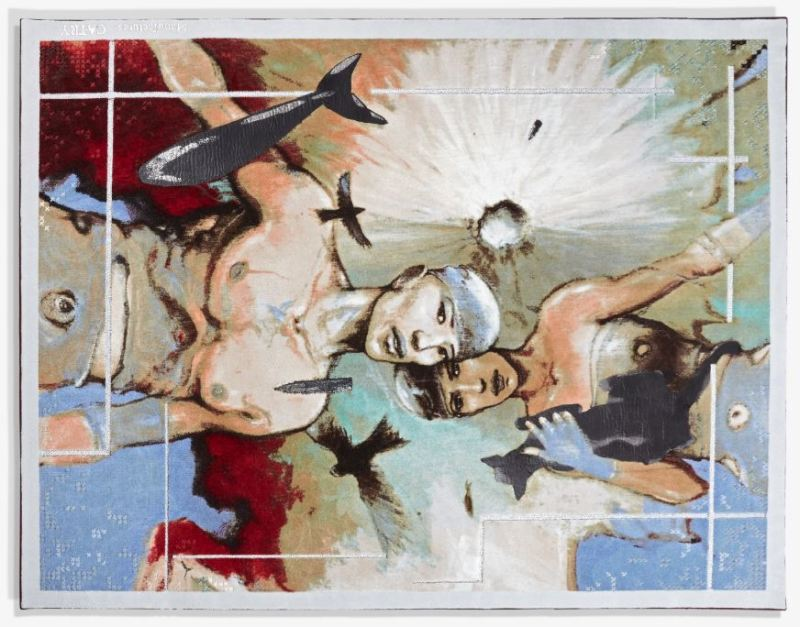 Tapis Enki Bilal Swimming above Fujiyama Manufactures Catry