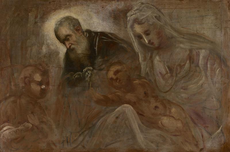 Le Tintoret - Sainte famille avec le jeune Saint Jean-Baptiste