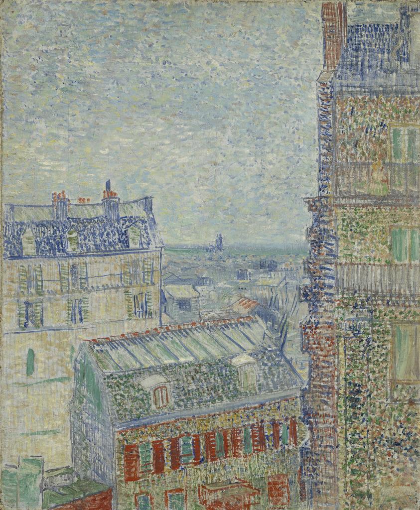 11. Les Hollandais à Paris - Vincent Van Gogh, Vue depuis l'appartement de Theo, 1887. Van Gogh Museum, Amsterdam (Vincent van Gogh Foundation)