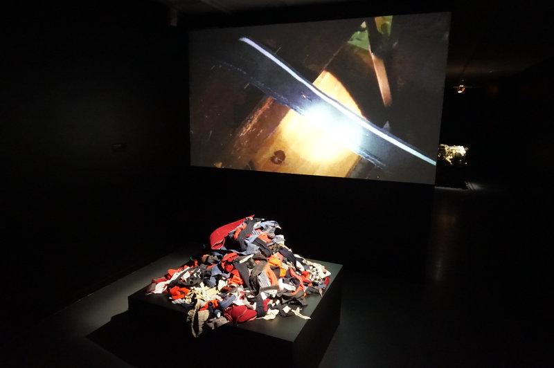 Vue de l'exposition Alain Fleischer au Centre des Arts d'Enghien