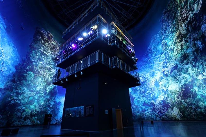 Vue de l'exposition Grande Barrière de Corail - Panorama XXL, Rouen