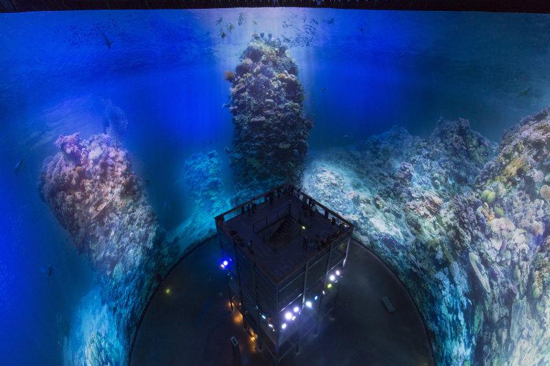 Panometer Leipzig - Great Barrier Reef am 05.10.2015Foto Tom Schulzetel.    0049-172-7997706mail  post@tom-schulze.comweb  www.tom-schulze.comNutzung des Bildes nur gegen Honorar, Beleg und Namensnennung