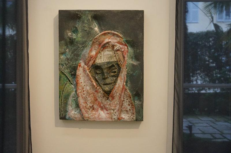 Vue de l'exposition Johan Creten à la galerie Perrotin (19)