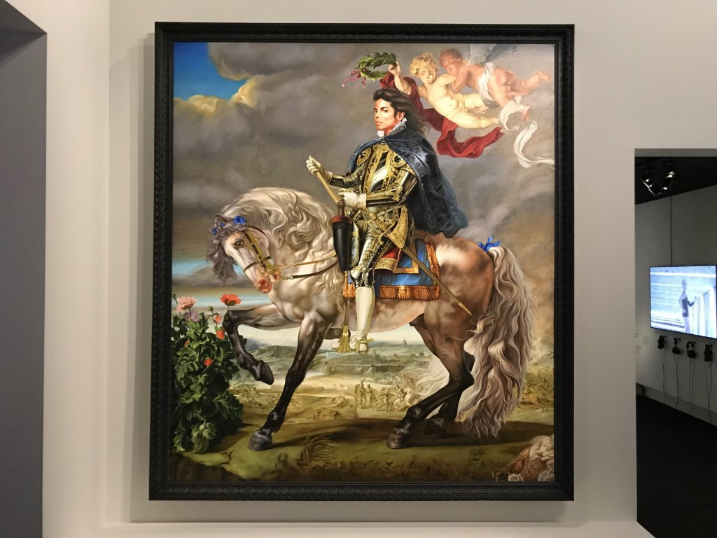 Vue de l'exposition Michael Jackson, On the Wall - Grand Palais