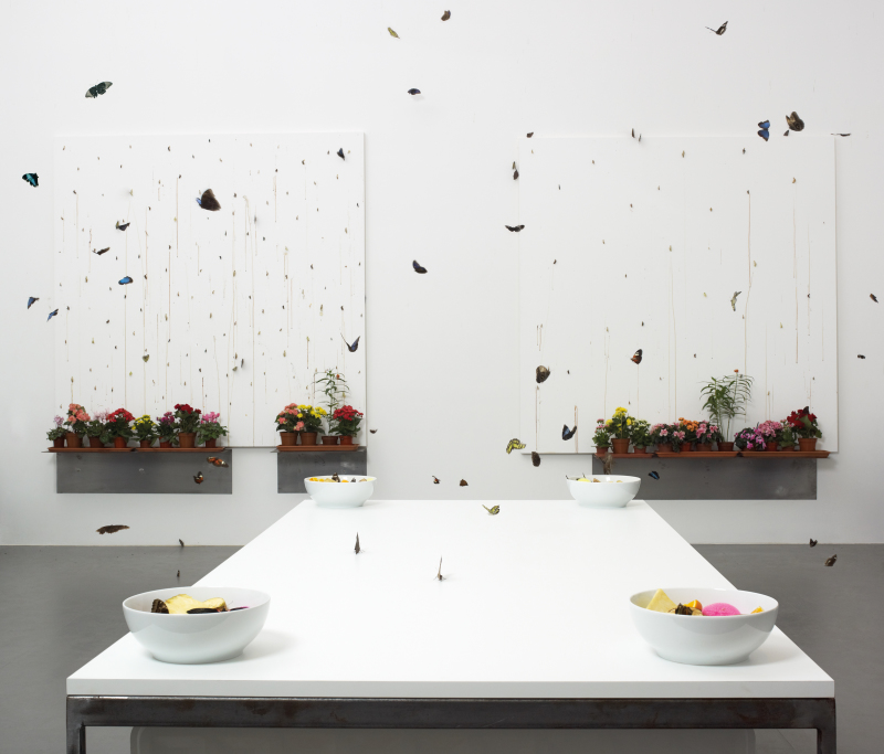in and out of love, damien hirst, expo in the city