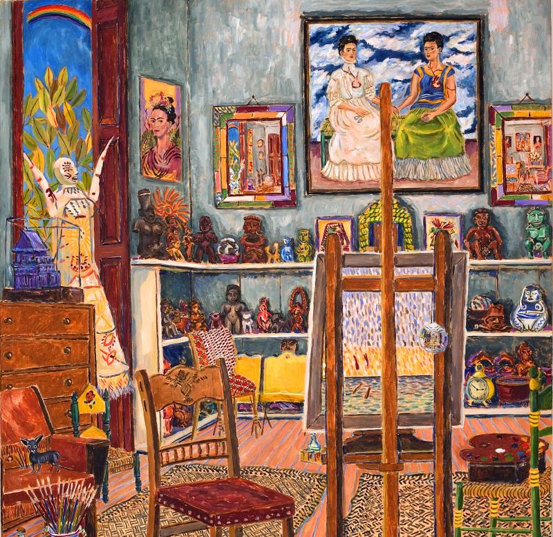 Kahlo's studio (Coyoacan, 1944) © Damian Elwes