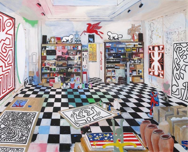 Keith Haring's Studio (New York, 1988) © Damian Elwes
