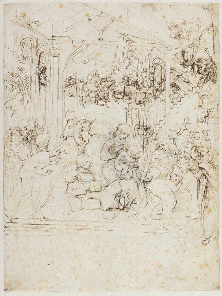Léonard_Etude pour L'Adoration des Mages_© Musée du Louvre, dist. RMN - Grand Palais Laurent Chastel