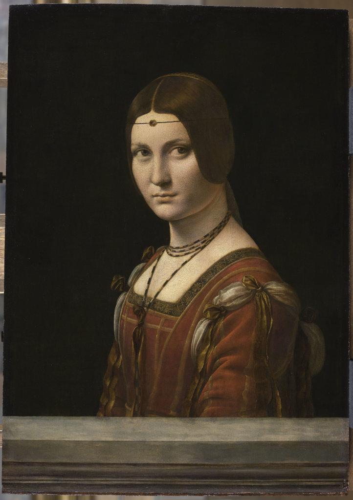 Portrait d'une dame de la cour de Milan, dit à tort La belle Ferronnière