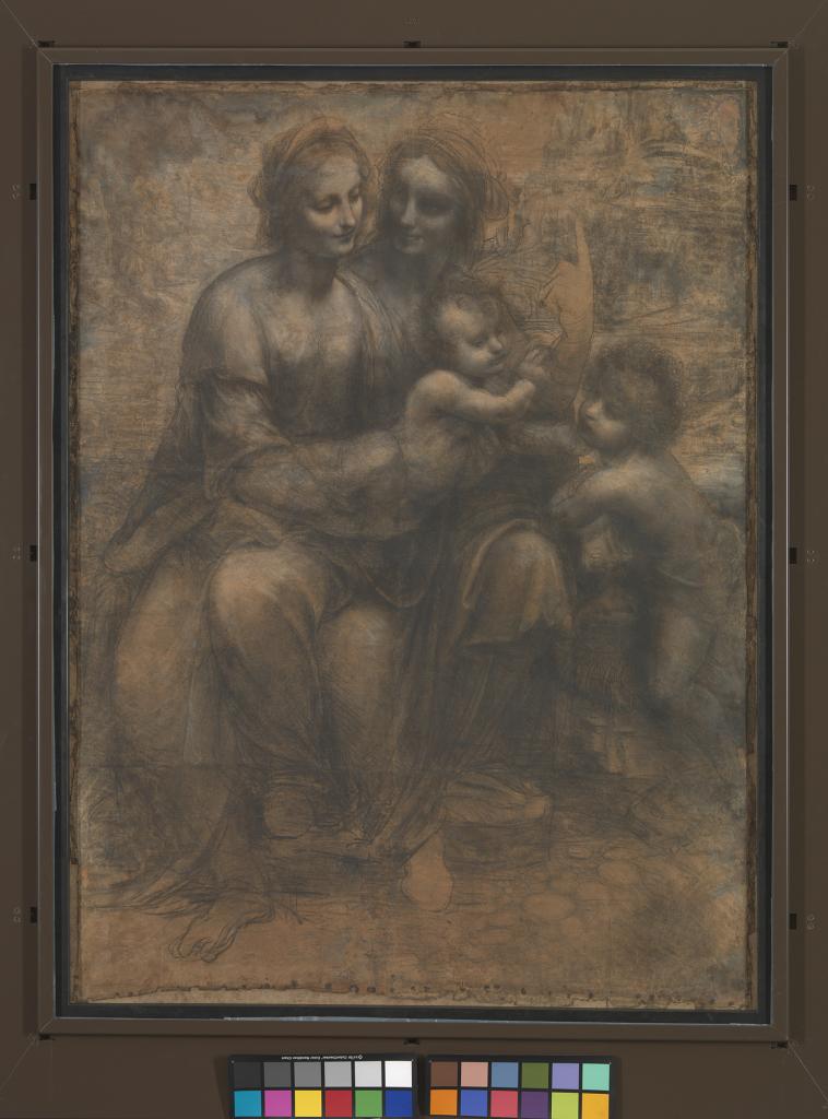 Léonard_Sainte Anne, la Vierge et l'Enfant avec le petit Jean-Baptiste© The National Gallery, London