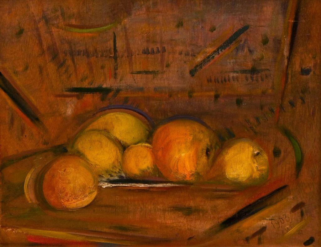 Henri-Jean Closon, Nature morte aux pommes, 1903