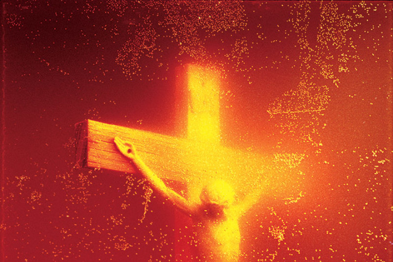 andres serrano, piss christ, expo in the city