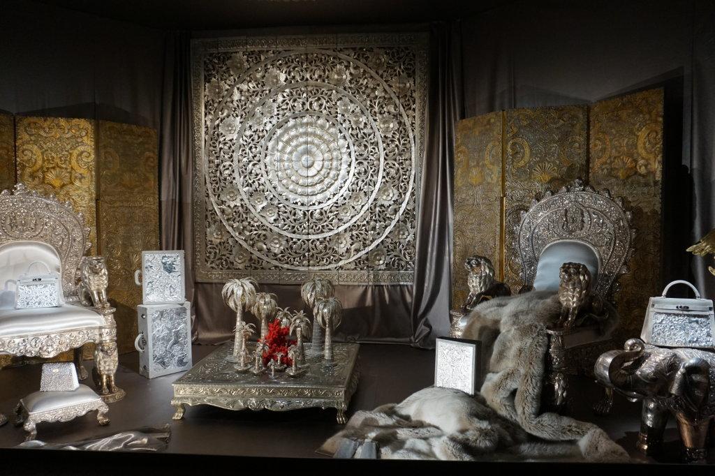 Vues de l'exposition Hermès à tire-d'aile, les mondes de Leïla Menchari au Grand Palais (10)