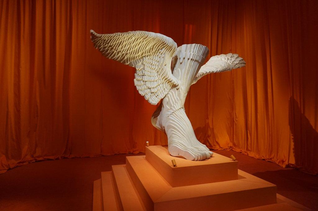 Vues de l'exposition Hermès à tire-d'aile, les mondes de Leïla Menchari au Grand Palais (23)
